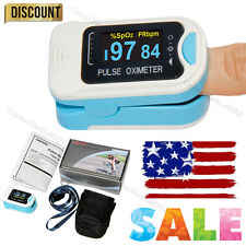 FDA Cleared Fingertip OLED Pulse Oximeter CMS-50N in Blue with Case and Lanyard