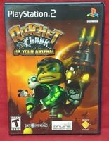 Ratchet Clank Up Arsenal  PS2 Playstation 2 COMPLETE Game 1 Owner Near Mint Disc
