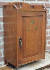 Antique Oak Wall Cabinet Cupboard Hanging Cabinet