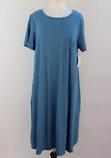 Small LuLaRoe Carly Dress Beautiful Blue Gray Micro stripes Cotton blend NWT 28