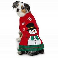 Petco Holiday Tails Best In Snow Snowman Christmas Dog Sweater Size L Large NEW