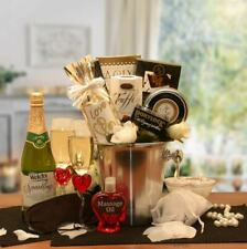 Deluxe Valentine/Wedding/Romantic Evening Gift Basket/Cider/Candles/Massage Oil