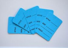 1000 Blue Merchandise Price Jewelry Garment Store Paper Small Tags 4.5x2.5cm