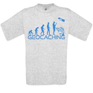 Geocaching T-Shirt -  Gr. S - 5XL T-Shirt Geocaching Bekleidung T5 Klettern