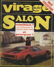 VIRAGE AUTO 1973 10 SALON DES SPORTIVES 74 F1 GP AUTRICHE CANAM JARIER GUZZI