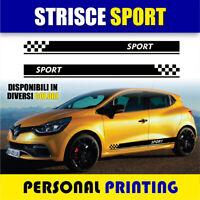 2 FASCE ADESIVE FIAT 500 SET COMPONIBILE AUTO TUNING STRISCE STICKERS DECAL BORGOGNA