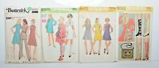 Vintage Sewing Patterns 1970's Lot of Four Butterick Simplicity Look Complete