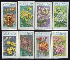 VIETNAM du NORD N°815/822** Non dentelés Fleurs, 1974, Viet Nam Imperf Flowers