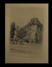 POTEMONT (Adolphe) - [Eau-forte :] Boulevards des Italiens / Café de Paris.