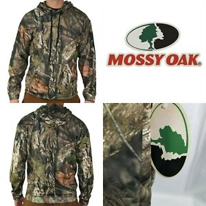 Mossy Oak GLDMO1601 Men's Camo Poly Tech Hoodie Sweatshirt Break-up Country