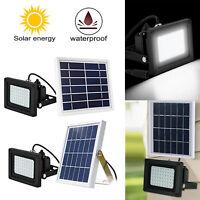Solar Power 48/54/150 LED Light Sensor Flood Spot Lamp Outdoor & Garden Security