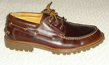 New Sperry Gold Cup Lug 3-Eye Men's Shoes 9.5 M US - Brown - NOS - Oiled & Waxed