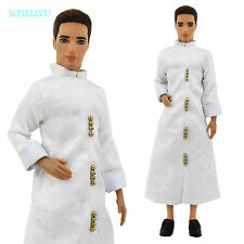Outfit Classical Muslim Aladdin White Robe Coat Clothes For Barbie Ken Doll Toy