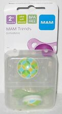 NEW! MAM TRENDS ORTHODONTIC PACIFIER SET OF 2 Silicone Soothers Baby Infant