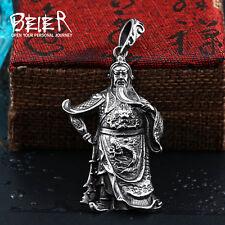 Amulette  Kwan Kung  en acier inoxydable: Protection & Richesse