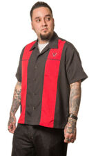 STEADY CLOTHING Classy Piston Button Up Bowling Shirt S-3XL NEW