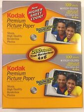 NEW KODAK Premium PPP-4-A Picture Paper High Gloss 4 x 6 Pack of 200