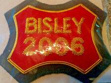Embroidered cloth Bisley badge dated 2006