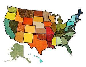 Sizzix Thinlits United States 3-PK set #660228 Retail $19.99  by Tim Holtz