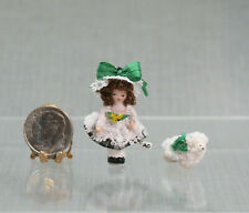 Dollhouse Miniature WEE MARY & LAMB Angel Children Doll by Ethel Hicks