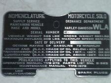 ORIGINALE Harley Davidson 750 CSD EMBLEMA SERBATOIO 1942 rarità
