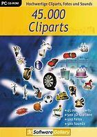 45.000 Cliparts von dtp Entertainment AG   Software   Zustand gut