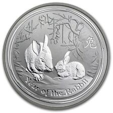 2011 Australian Lunar Year of the Rabbit 50 c 1/2 oz .999 silver Coin Proof