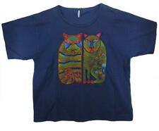 Cats Hand Painted & Beaded T-Shirt - L to XL