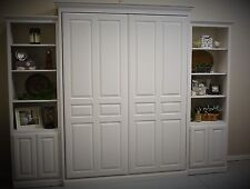 "Custom Queen Size Murphy Bed with 24"" cabinets"