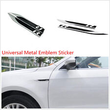 Une paire Car Side Fender porte en métal noir R Logo décoratif Emblème Autocollant Badge