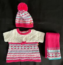 Build-A-Bear Fair Isle Dress, Hat and Scarf