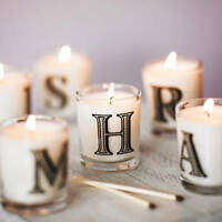 Initial Candle Scented Bombay Duck Votive Alphabet Letter Personalised Gift Box