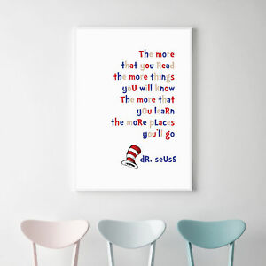 NEW Dr Seuss The More That You Read Print Boy's by Almond Tree Designs