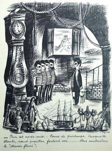 PEYNET Raymond : Le cambriolage - GRAVURE humoristique signée  #1943