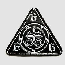 leviathan cross white lines triangle  GENUINE LEATHER  PATCH