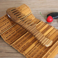 Wooden Natural Sandalwood Handmade Wide Tooth Comb Massage Comb Hair Care 1PC2QT