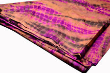 Shibori Hand Tie Dyed Pure Silk Tussar Fabric with Natural Dyes