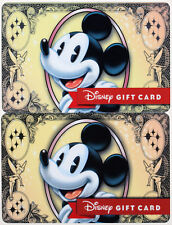 """2 Very Limited Issue """"Disney Dollar"""" Gift Cards 2016 From the Emporium, Main St."""