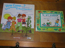 Lot of Outdoor Nature IN MY GARDEN How Come…? Easy Answers Hardcover Books