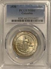 1936 Columbia Commemorative Silver Half Dollar - PCGS MS 66 - Mint State 66