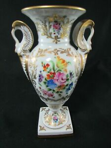 Hand Painted & Gilded French Vase
