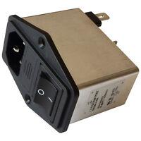 Schaffner FN284-4-06 Netzfilter 250V AC 4A IEC Inlet-Filter Fuse Switch 855207