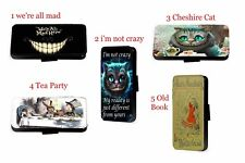 Alice in Wonderland Mad Hatter Cat Inspired leather phone case for Samsung i8 iX