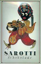 Blechschild Sarotti Mohr Schokolade Pralinen Werbeschild retro Schild 20x30 cm