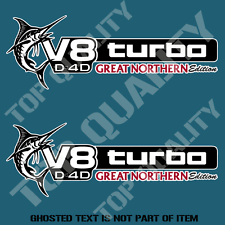 V8 TURBO D4D GREAT NORTHERN EDITION DECAL STICKER 4X4 AWD LANDCRUISER STICKERS