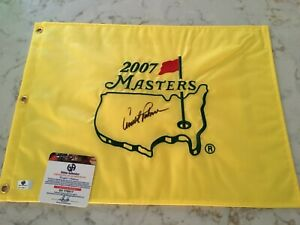 Arnold Palmer Signed Auto Masters Flag Pin Augusta National Global COA # 779517