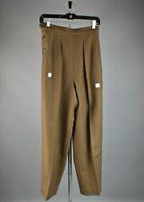 VTG Women's NOS WWII WAC WAAC Wool Liner Trousers Sz 14 R #2844 WW2 Army Pants
