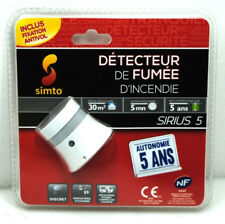 10 Stück Simto Sirius 5 Rauchmelder Smoke Detector Smokedetector VKF OVP NEU
