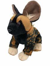 "Wild Republic African Wild Dog 12"" Plush Hyena Stuffed Animal EUC"
