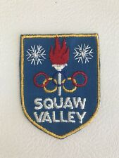 SQUAW VALLEY Vintage Skiing Ski Patch CALIFORNIA Resort Travel Souvenir Olympics
